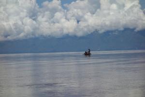 La sérénité des pêcheurs sur le Lac